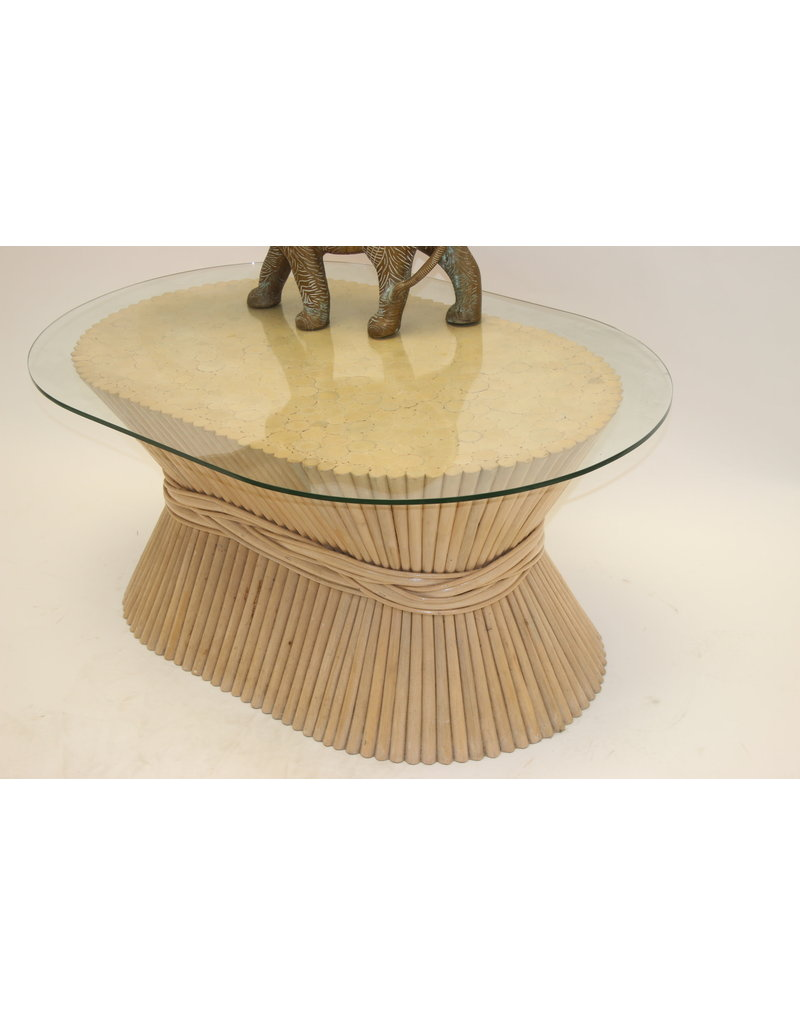 Bamboo coffee table made by  McGuire