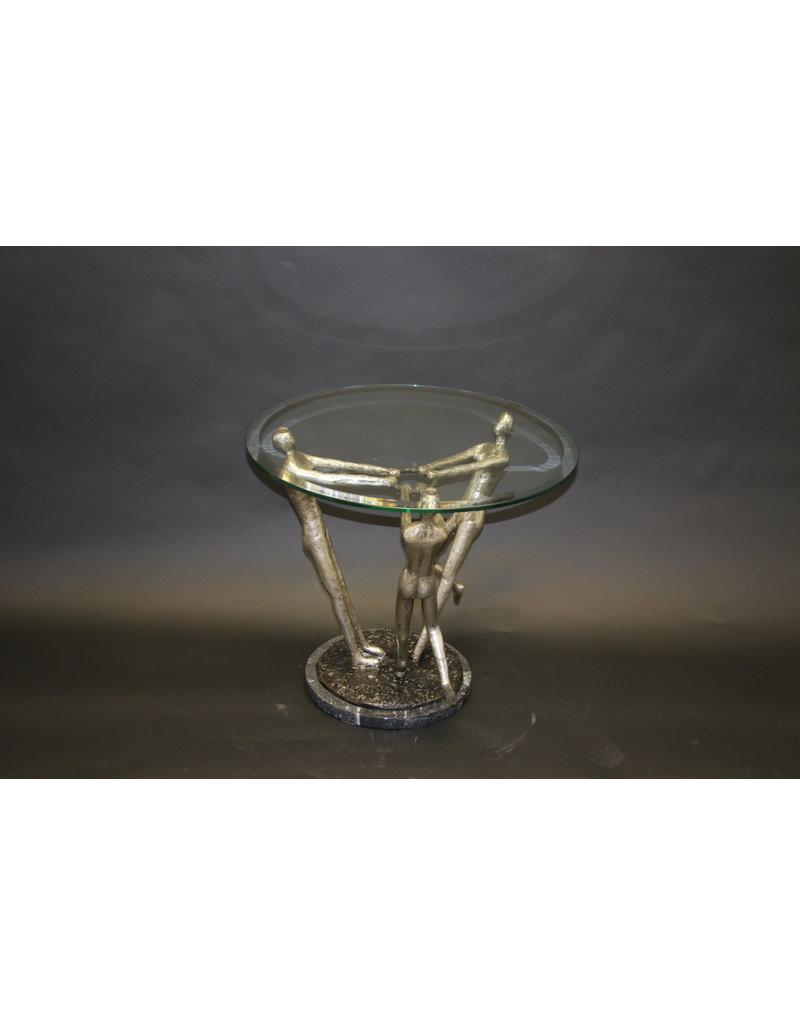 Salontafel 3 maagden modern design van brons