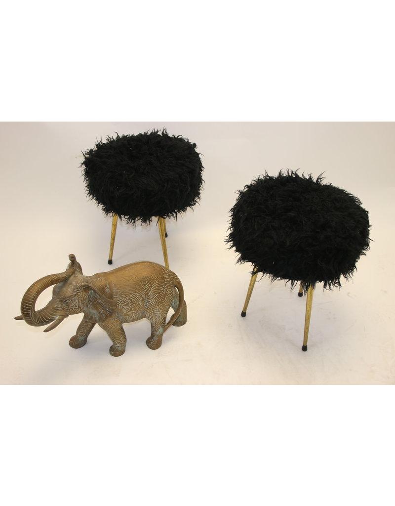 vintage stool hocker ottoman footstool