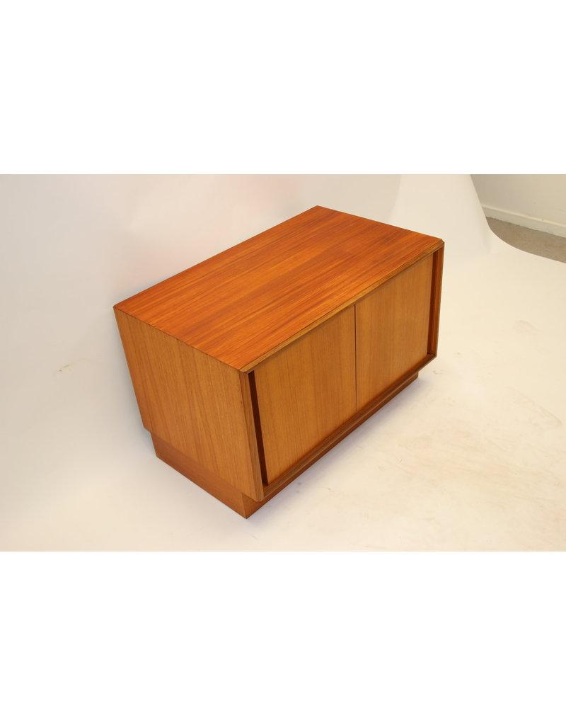 Gplan cupboard made of teak with sliding doors