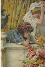 A PEARS PRINT OF THREE PRE-RAPHAELITE GIRLS BY W S COLEMAN