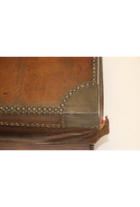 French Brown Leather case with copper corners and keyl