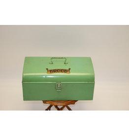 Old Green Tin bread bin