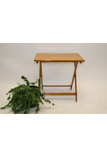 wooden camping table with smooth top
