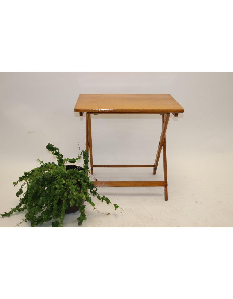houten Campingtafeltje met glade blad