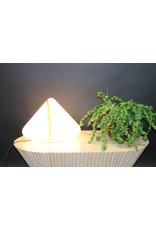Murano tafellamp pyramide met rode streep