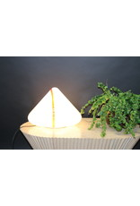 Murano table lamp pyramid with red stripe
