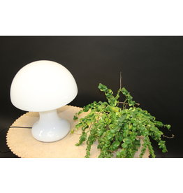 mushroom lamp table lamp white glass italian design