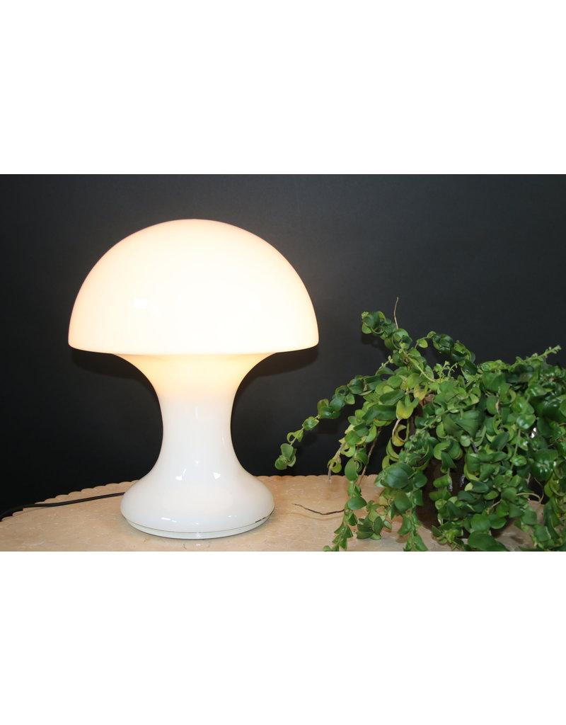 mushroomlamp tafellamp witglas italiaans ontwerp