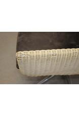 Rattan Design Armchair with star foot 60 years in the style of dirk van Sliedrecht