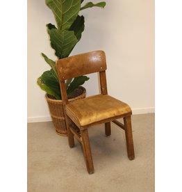 Dark wood high chair