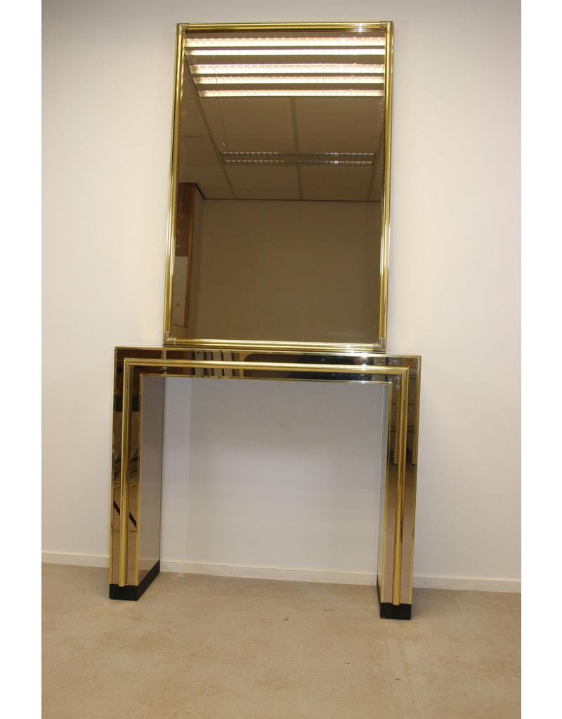 Belgochrom Side table met spiegel 70 jaren
