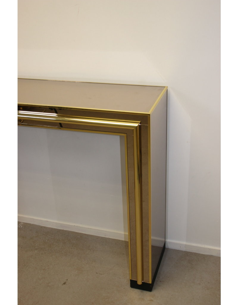 Belgochrom Side table with mirror 70 years
