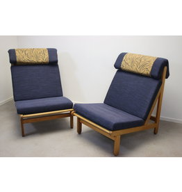 2 Rag Chairs Danish designer chairs and a set of armchairs from Bernt petersen