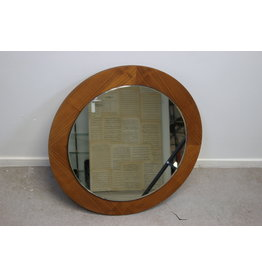 Teakhout Ronde spiegel Scandinavisch Design 55 cm