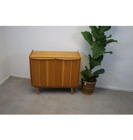 Wooden vintage shoe cupboard or pantry