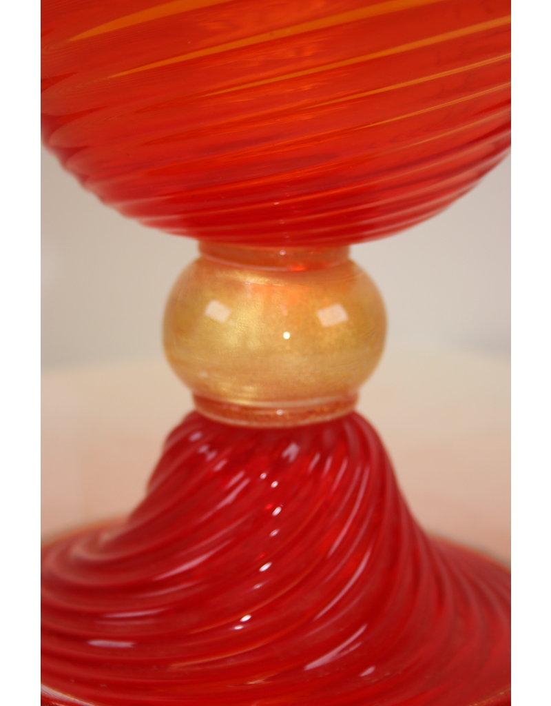 Red Gold Murano Cup seguso vetri d'arte