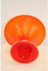 Rode Gouden Murano Cup seguso vetri d'arte