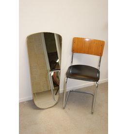 Vintage Spiegel 90x40 cm met 2 slijpstrepen
