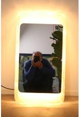 Hillebrand Rectangular illuminated Wall mirror Ice glass