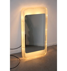 Hillebrand Rectangular illuminated Wall mirror Ice glass