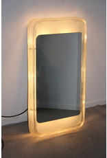 Hillebrand Rechthoekige verlichte Wandspiegel Ijsglas