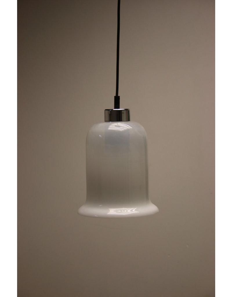 White milk glass hanging lamp Opaline lamp