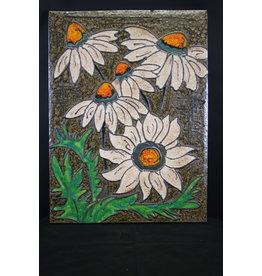 Witte Bloemen Tegel Ruscha Bandgemalt 769