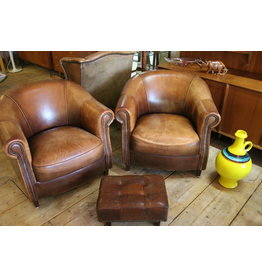 Joris Sheep Leather Chairs Dutch Design Set Van 2