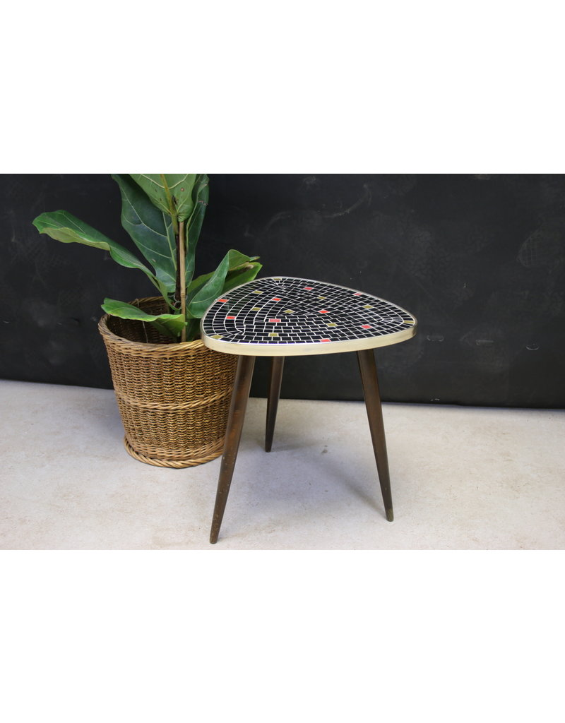 Plant table with mosaic top