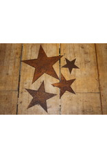 Rusty metal star 21 cm