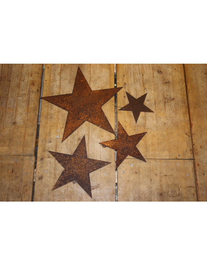 Rusty metal star 16 cm