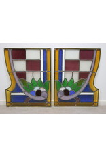 Stained glass windows set of 2