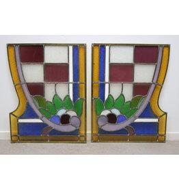 Glas in lood raampjes set van 2