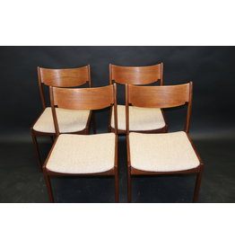 4 diner tafel stoelen van Bjerringbro stolefabrik 1967