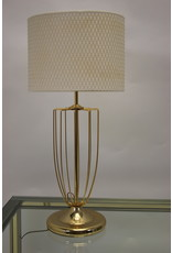 Vintage gold-plated table lamp with bars