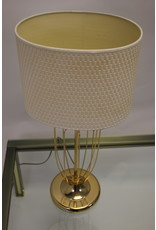 Vintage vergulde tafellamp met spijlen