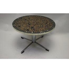Vintage ronde tegel tafel plantentafel Salontafel groot