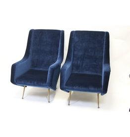 Italian set of chairs Aldo Morbelli from ISA Bergamo, 1950s