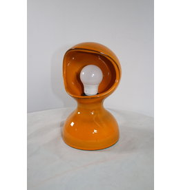 Orange Ceramic Table lamp 60 years