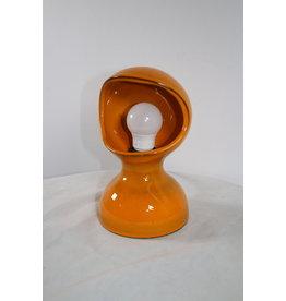 Oranje Keramiek Tafellampje 60 jaren