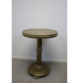 Round Copper Side Table from the 50 years