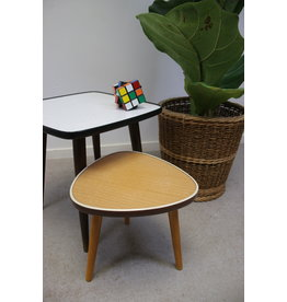 Brown Triangular Plate Table