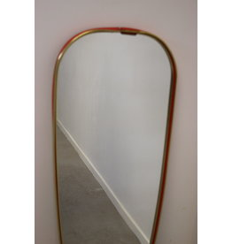 Vintage wall mirror with red border