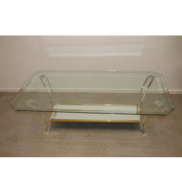 Plexiglass Coffee table or coffee table with mirror in the style of Charles Hollis Jones
