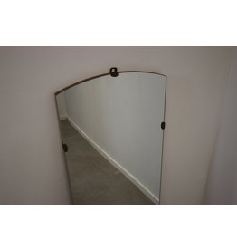 Large oblong wall mirror without border