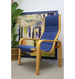 Ekström Lamello chair Donker Blauw Zweedse Design
