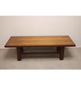 Rectangular Rosewood Veneer Coffee Table