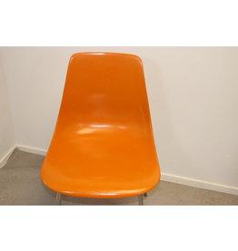 Orange Glasfibber chair by Georg Leowald Wilkhahn