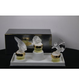 les Flacons collection miniatures Lalique 2000 1998 1999
